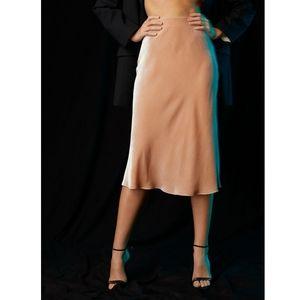 Babaton Velvet Slip Skirt